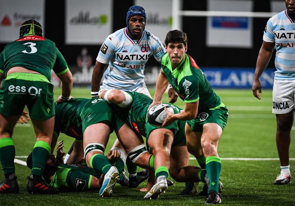 Thibault DAUBAGNA of Pau during the Top 14 match between Racing 92 and Pau at Paris La Defense Arena on November 7, 2020 in Nanterre, France. (Photo by Matthieu Mirville/Icon Sport) - Thibault DAUBAGNA - Paris La Defense Arena - Paris (France)